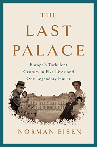 Book cover featuring royalty surrounding a palace