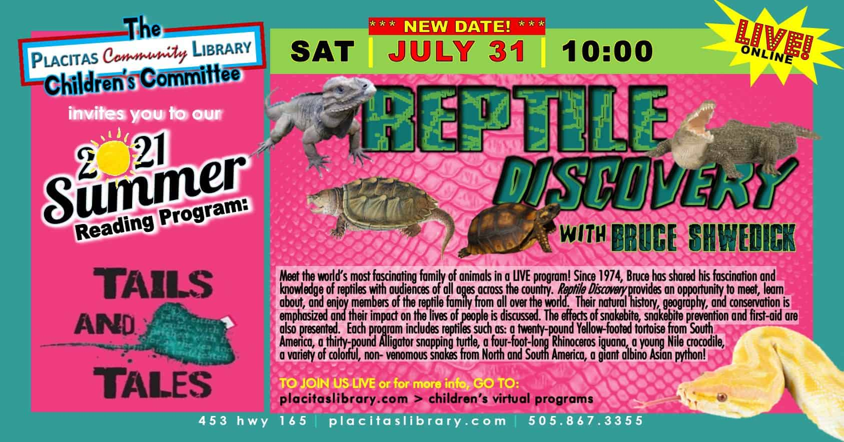 Reptile Discovery with Bruce Shwedick
