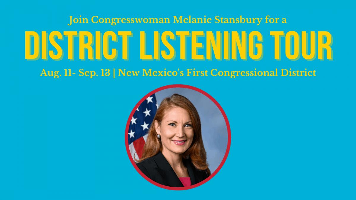 Melanie Stansbury, Congress, Listening Tour, Placitas